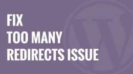 Fix Error Too Many Redirection Issue in WordPress, Redirection Issue in WordPress,Too Many Redirection Issue in WordPress