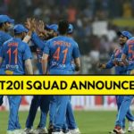 India  T20I Squad for new zealand 2020