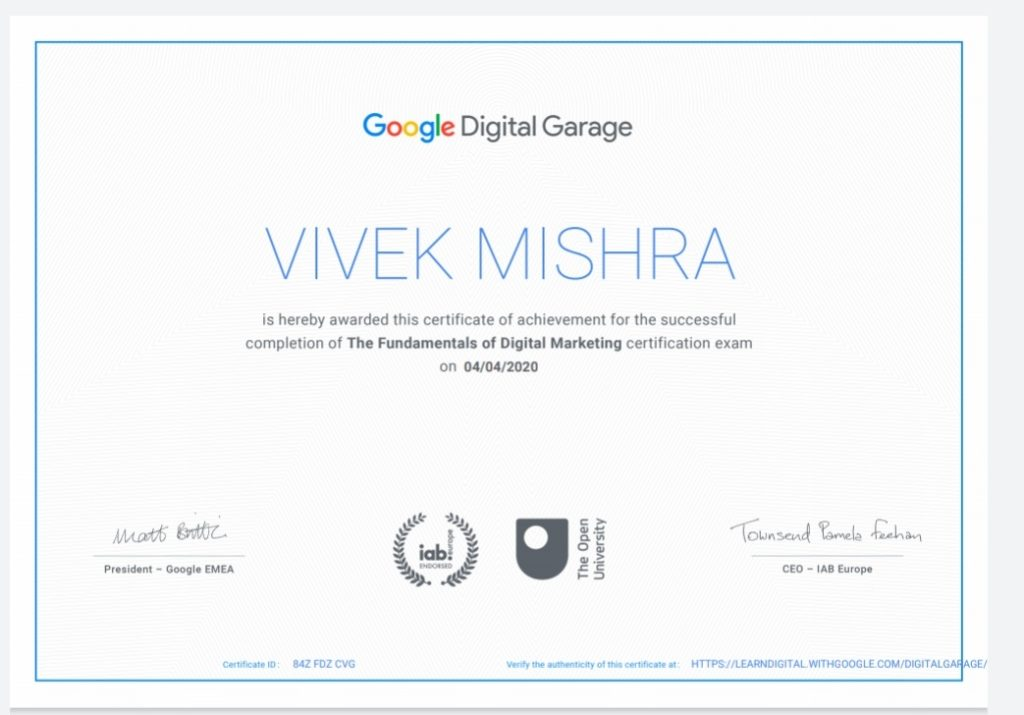 Digital Marketing Google Certification link,Digital Marketing Google Certification,Digital Marketing Google Certification website,free Digital Marketing Google Certification
